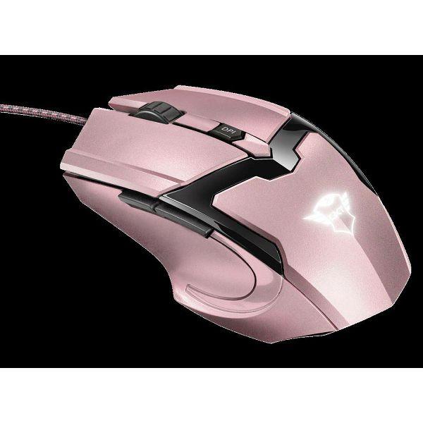 Miš TRUST GXT 101P Gav, optički, 4800dpi, rozi