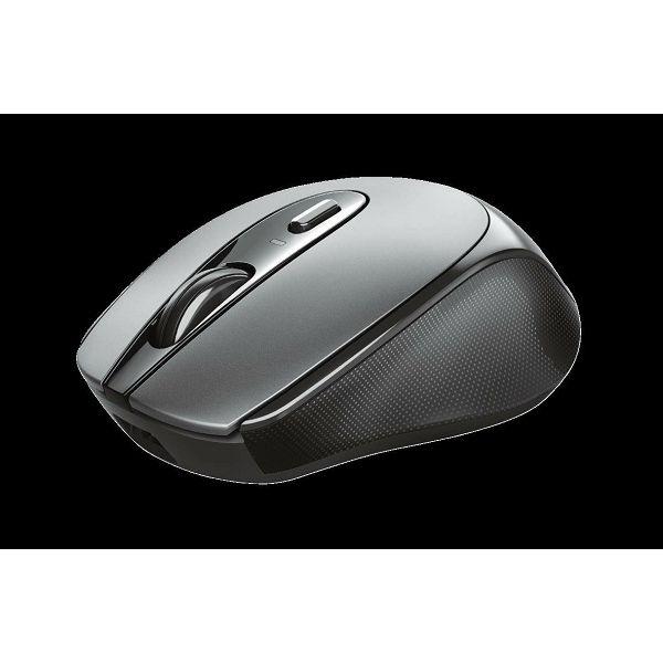 Miš TRUST Zaya Rechargeable, optički, 1600dpi, bežični, sivi