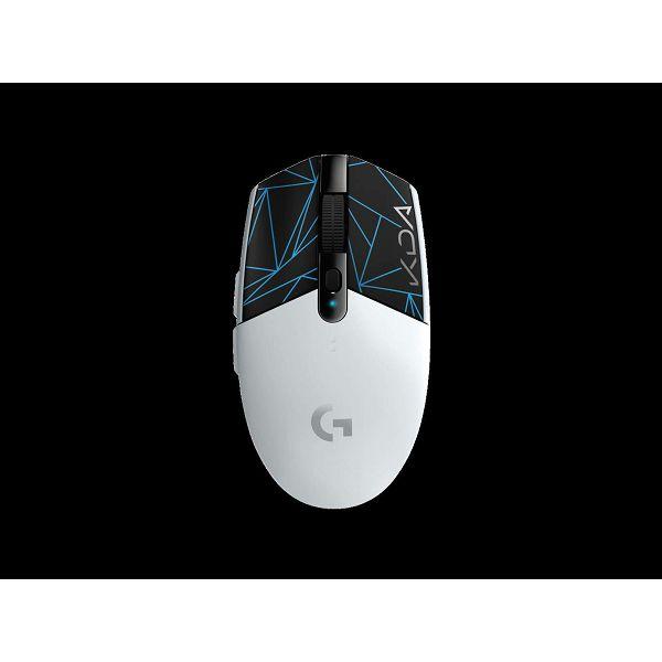 Miš LOGITECH Gaming G305 Lightspeed League of Legends Edition, bežični, optički, 12000dpi, bijeli, USB