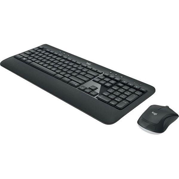 Tipkovnica + miš LOGITECH MK540 Advanced Combo, bežična, crna, Unifying receiver USB
