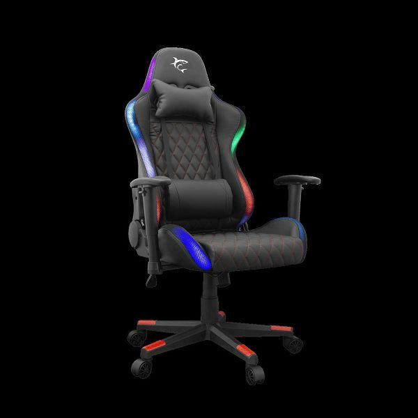 Gaming stolica WHITE SHARK Thunderbolt, RGB, crna