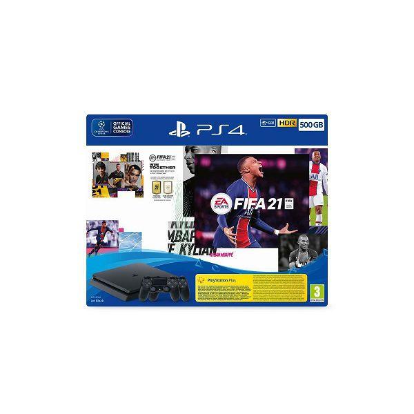 Igraća konzola SONY PlayStation 4, 500GB, F Chassis, FIFA 21 + FUT VCH + PS Plus 14dana + Dualshock Controller v2