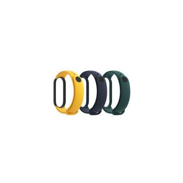 Zamjenski remeni XIAOMI Mi Band 5, set 3 komada, blue,yellow,green