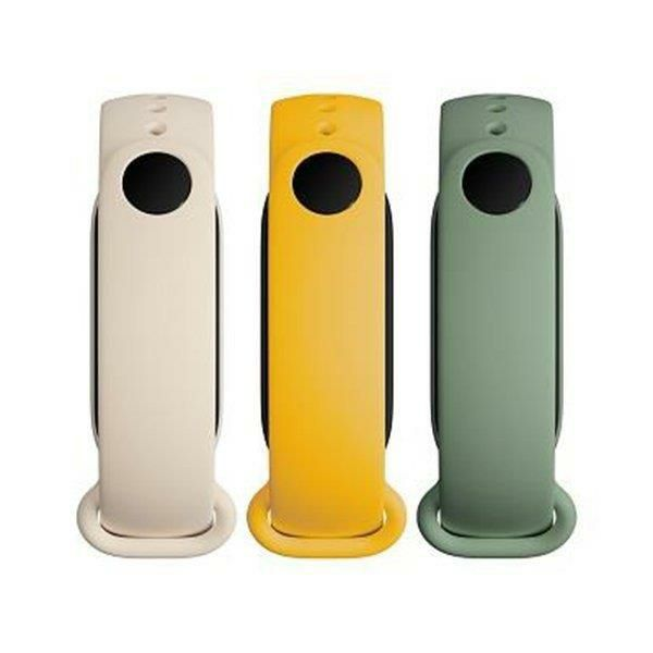 Zamjenski remeni XIAOMI Mi Band 6, set 3 komada, ivory, olive, yellow