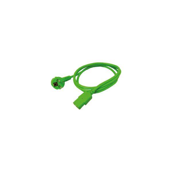 Roline naponski kabel IEC320-C13 1.8m 10A zeleni