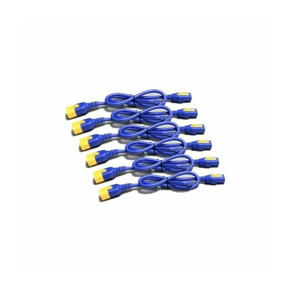 APC Power Cord Kit (6 ea), Locking, C13 TO C14, 0.6m, Blue
