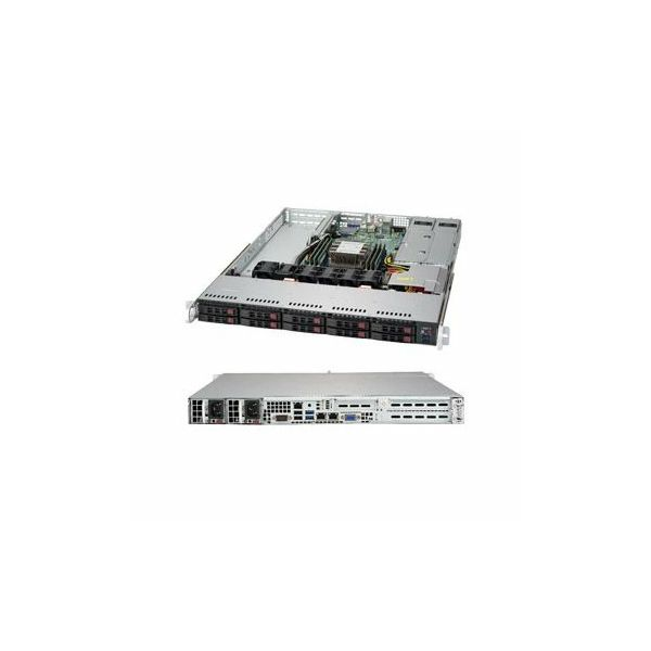 Supermicro assembled server based on SYS-1019P-WTR, 1x CLX 4208 CPU, 1x 32GB DDR4, 4x Toshiba 2.5