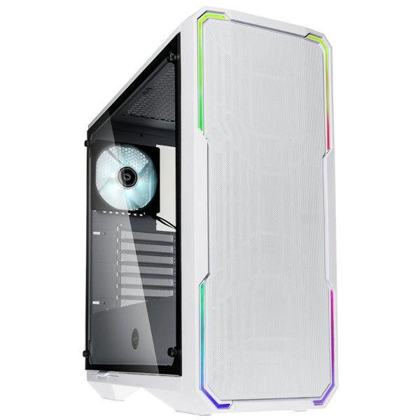 BitFenix Enso Mesh TG, RGB, bijelo, bez napajanja