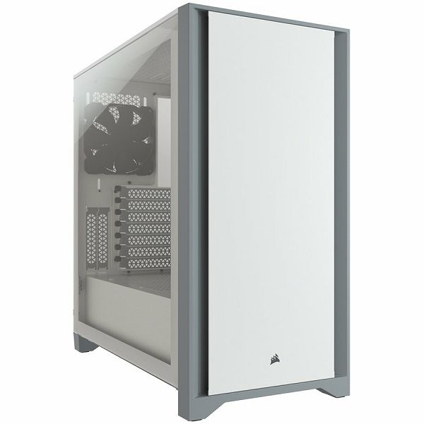 Kučište CORSAIR 4000D Tempered Glass Mid-Tower ATX Case — White