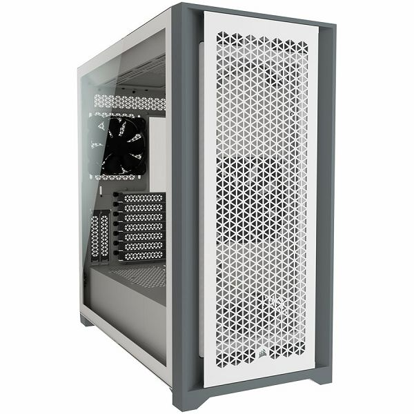 Kučište CORSAIR 5000D AIRFLOW Tempered Glass Mid-Tower ATX Case — White