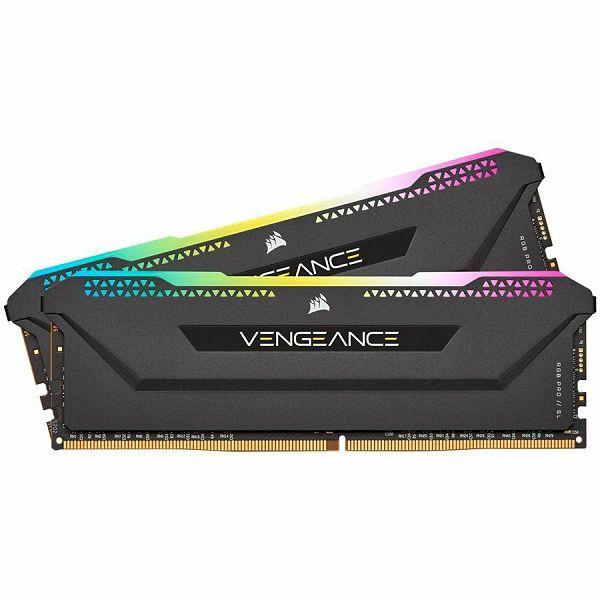 Memorija CORSAIR DDR4 16GB (2x8GB) Vengeance RGB PRO SL DIMM 3200MHz CL16 black