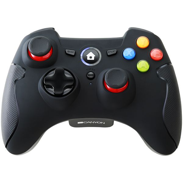 2.4G Wireless  Controller with Dual Motor, Rubber coating,    2PCS AA Alkaline battery   ,support  PC X-input mode/D-input mode, PS3, Android/nano size dongle,black