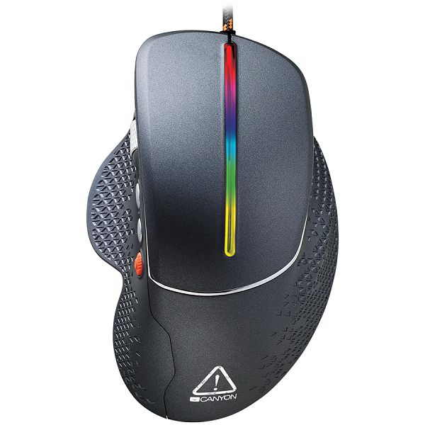 Wired High-end Gaming Mouse with 6 programmable buttons, sunplus optical sensor, 6 levels of DPI and up to 6400, 2 million times key life, 1.65m Braided USB cable,Matt UV coating surface and RGB light
