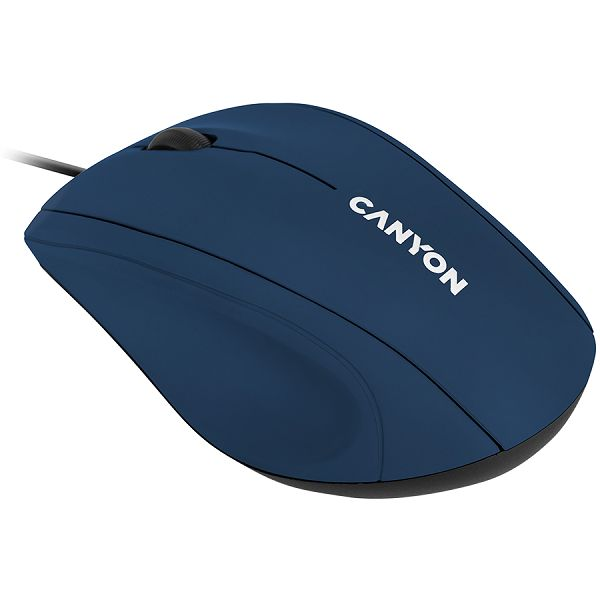 Wired Optical Mouse with 3 keys, DPI 1000  With 1.5M USB cable,Blue,size72*108*40mm  weight:0.077kg