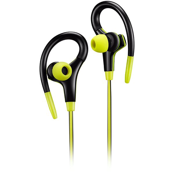Slušalice sa mikrofonom Canyon stereo sport, 1.2m flat cable, lime