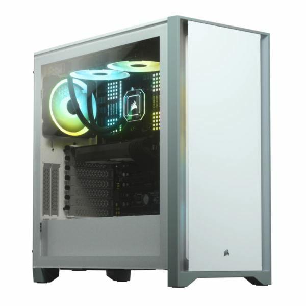 Kučište Corsair 4000D Tempered Glass Mid-Tower ATX Case White