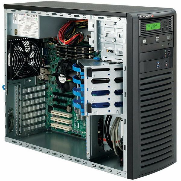 Supermicro CSE-732D4-903B, Mid-Tower, Front I/O, Fixed HD SATA/SAS, 903W - Black