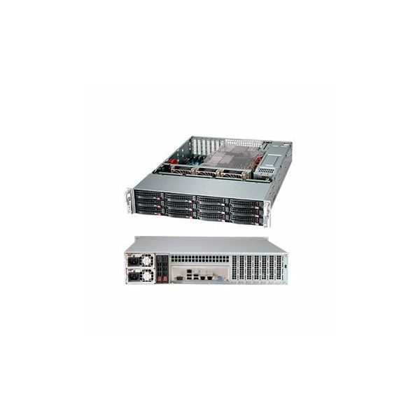 Supermicro Server Chassis CSE-826BE1C-R920LPB, 2U, MB E-ATX 13.68x13, ATX 12x13, 12x10, 12x3.5 hot swap SAS3/SATA, SAS3 12Gbps single-expander backplane, optional 2x2.5 hot-swap drive bay, 1+1 920W RP
