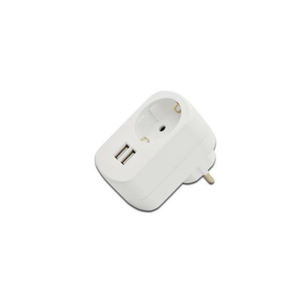 USB punjač Ednet Power Adaptor, 2 porta + 220V