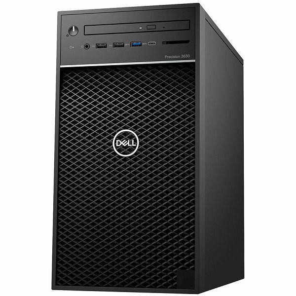 Server Dell Precision T3630 w/460W up to 90% efficient PSU, Intel Xeon E-2124G, 4 Core, 8MB Cache, 3.4GHz, 4.5Ghz Turbo,  8GB (1x8GB) 2666MHz DDR4 UDIMM Non-ECC, M.2 256GB PCIe NVMe, Intel UHD 630