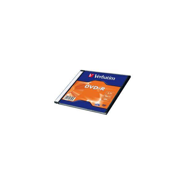 DVD-R Verbatim 4.7GB 16× Matt Silver Single pack Slimcase (min. 20 kom)
