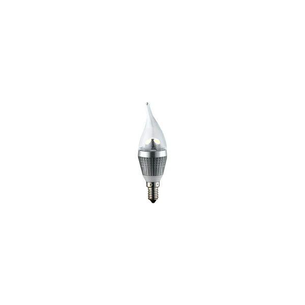 EcoVision LED žarulja E14 svijeća Phenix, 3W, 2700K, topla-bijela, dimmable, srebrna