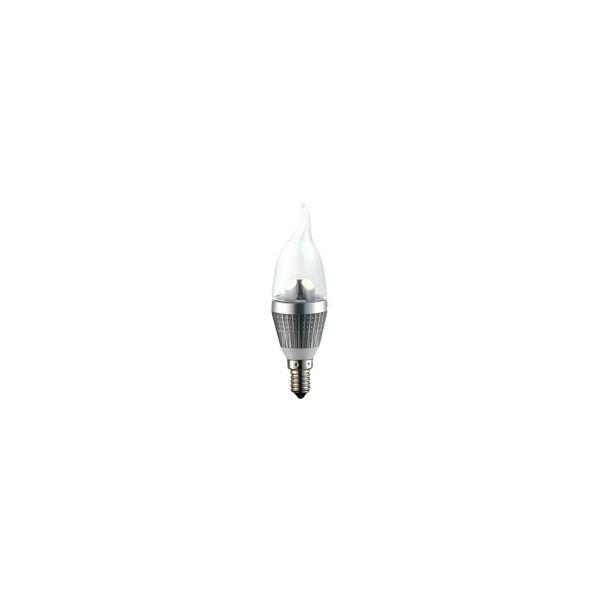 EcoVision LED žarulja E14 svijeća PhenixS, 3W, 2700K, topla-bijela, dimmable, srebrna