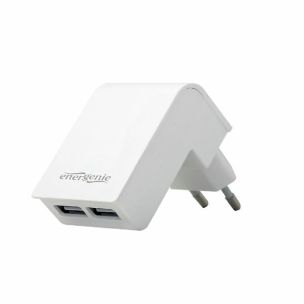 Gembird 2-port universal USB charger, 2.1 A, white