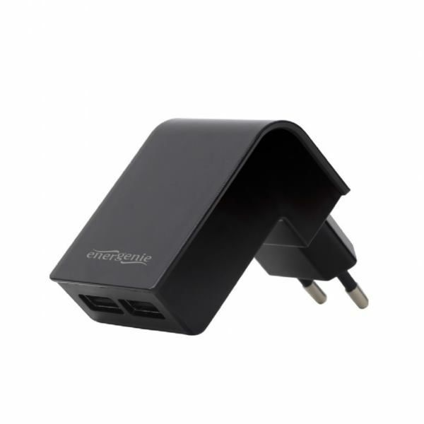 Gembird Universal charger, 2.1 A, black color