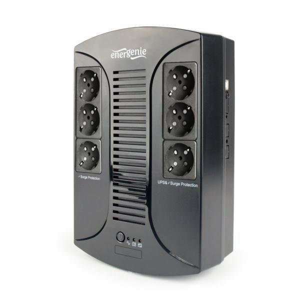 Gembird UPS with AVR, 850 VA, 6 Schuko sockets, USB
