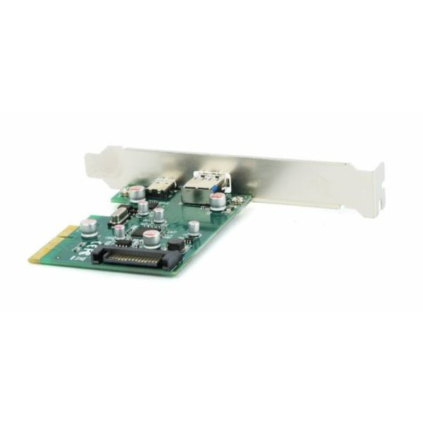 Gembird 2-port USB 3.1 PCI-Express add-on card (type-A type-C), with extra low-profile bracket