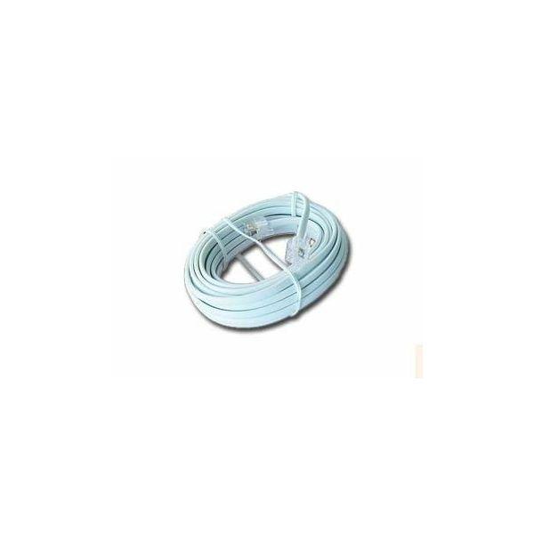 Gembird Telephone cord 6P4C, 2 meters, white