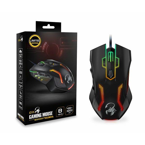 Genius Scorpion Spear Pro, igraći miš, 3200dpi,USB