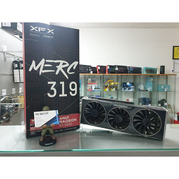 Grafička kartica XFX AMD Radeon 6800 MERC 319 16GB 256bit GDDR6, 2150, 16000, PCI-E 4, 3x DP, HDMI, Triple Fan 2.7 slot