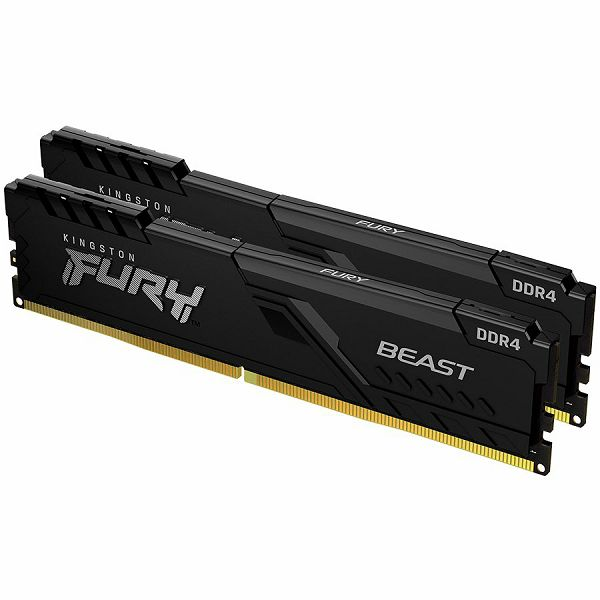 Kingston DRAM 8GB 3200MHz DDR4 CL16 DIMM (Kit of 2) FURY Beast Black EAN: 740617319927