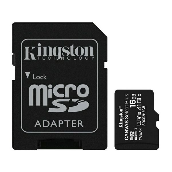 Memorijska kartica KINGSTON microSDXC, Select plus, Class10, 16GB