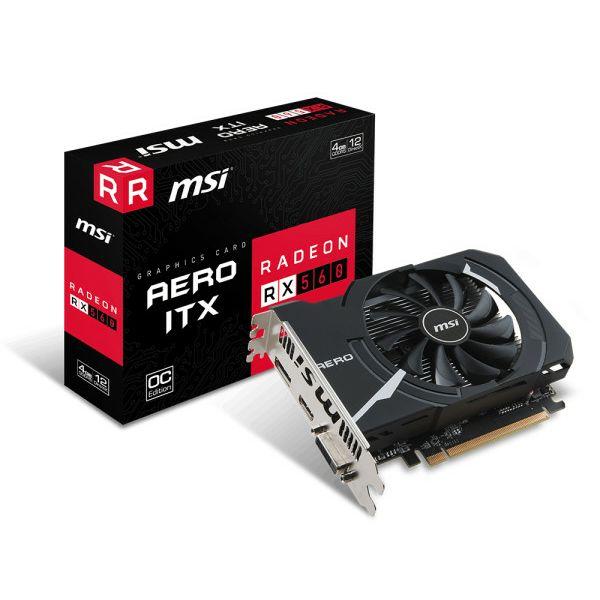 Grafička kartica MSI RX 560 Aero ITX 4G OC , 2GB GDDR5, DX12