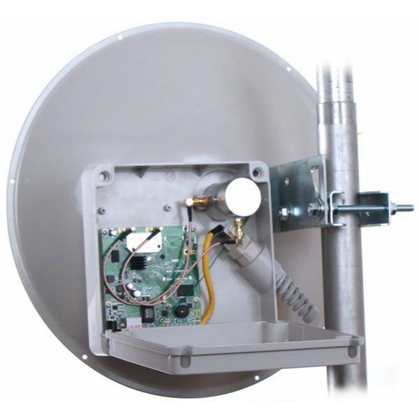 MaxLink MaxStation Mikron 924PR AC Lite, 24dBi dish MIMO shielded antenna, RouterOS L3, complete outdoor unit