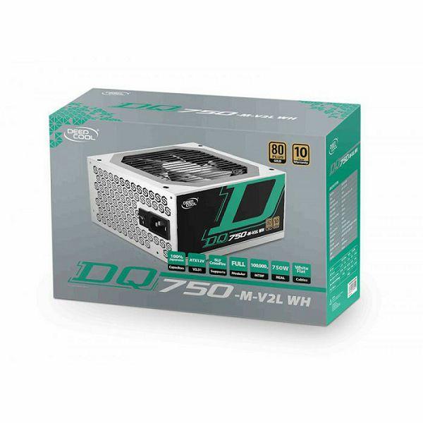 Napajanje DeepCool DQ750-M V2L, 750W, 80+ Gold, Modular, White