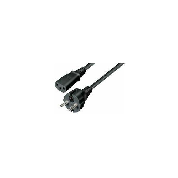 201 NaviaTec Schuko plug - IEC 320 C13 Jack black 5m