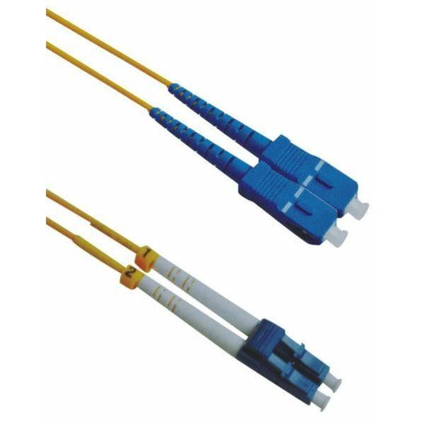 NFO Patch cord, LC UPC-SC UPC, Singlemode 9 125, G.652D, 3mm, Duplex, 10m