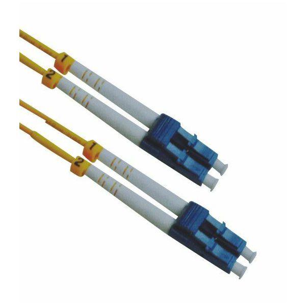 NFO Patch cord, LC UPC-LC UPC, Singlemode, 9 125, G.657.A2, Duplex, 3mm, 1m