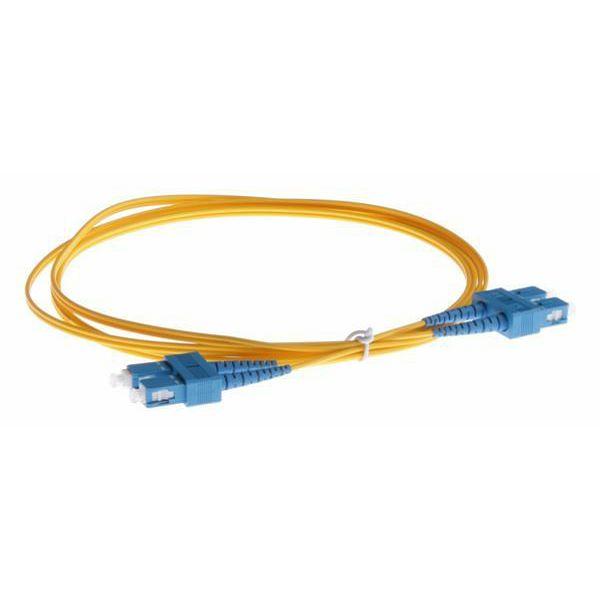 NFO Patch cord, SC UPC-SC UPC, Singlemode, 9 125, G.657.A2, Duplex, 3mm, 2m