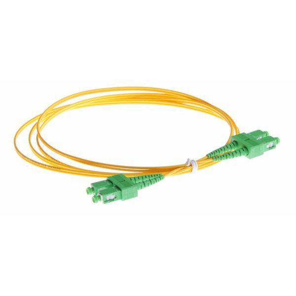 NFO Patch cord, SC APC-SC APC, Singlemode, 9 125, G.657.A2, Duplex, 3mm, 1m