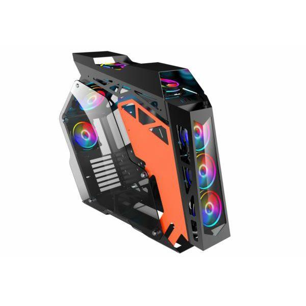 NaviaTec HERO XL Gaming Case ATX, Tempered Glass, RGB fans