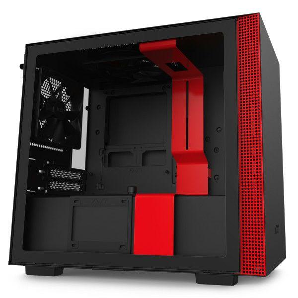 Kučište NZXT H210 crno/crveno bez napajanja, ITX