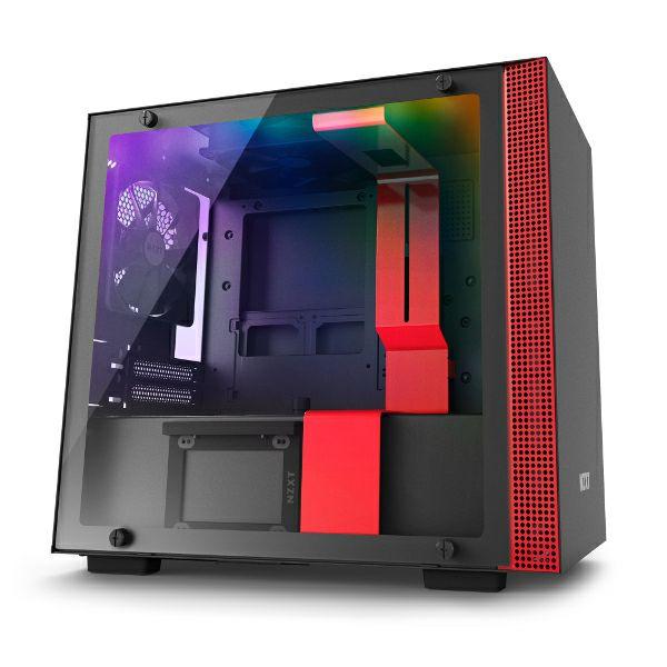 Kučište NZXT H210i pametno kućište, crveno bez nap., ITX