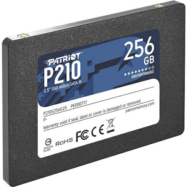 Patriot SSD P210 R530/W400, 256GB, 7mm, 2.5
