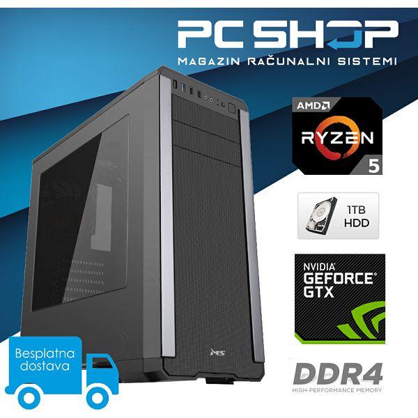 PC Računalo MagazinRS Gamer (Ryzen 5 1400 3.2GHz, GTX 1060, 8GB DDR4 RAM, HDD 1TB)