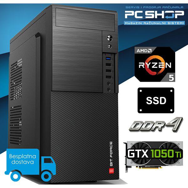PC Računalo MagazinRS Gamer (Ryzen 5 1600 AF Six core 3.6GHz (Boost), GTX 1050 Ti, 16GB DDR4 RAM, SSD 480GB)